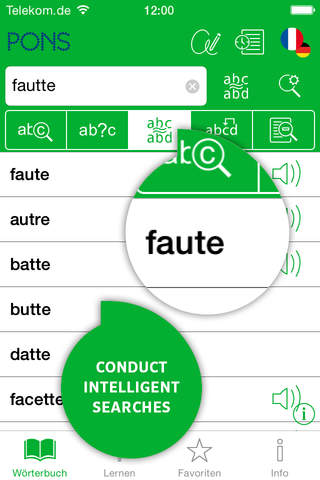 Screenshot of Dictionary French - German BUSINESS by PONS