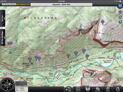 Backpacker Map Maker Lite