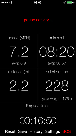 Calories Speed Distance... FREE
