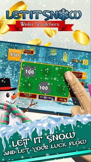 Let It Snow Lottery - Dream Jackpot Winter Scratchers