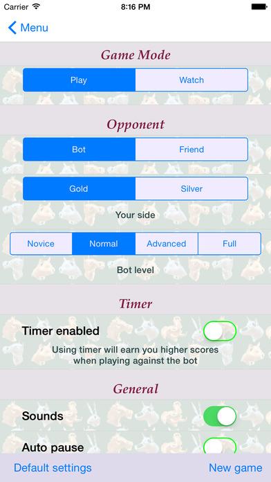 Arimaa Trainer iPhone Screenshot 5