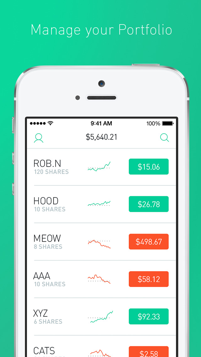 Robinhood screenshot 2