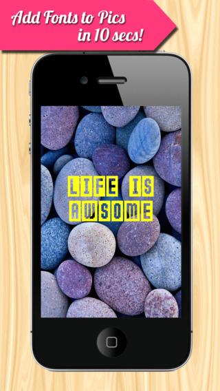 InstaText - 向图片中添加艺术文字[iOS]丨反斗限免