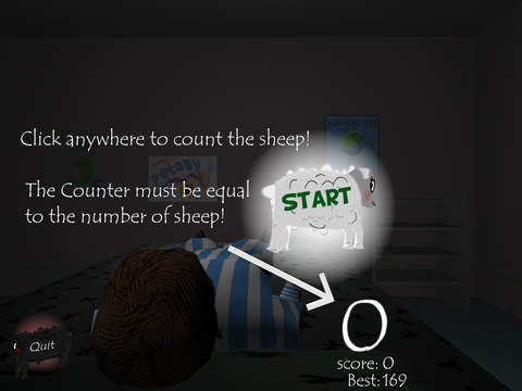 玩免費遊戲APP|下載Sheep Sleep, A Hardcore Game Hell.. Learn to count sheep to help the boy deepen his dream. app不用錢|硬是要APP