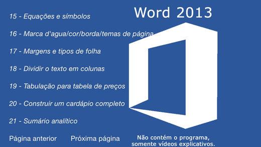 Tutorial for Word 2013 Gratis Portugues