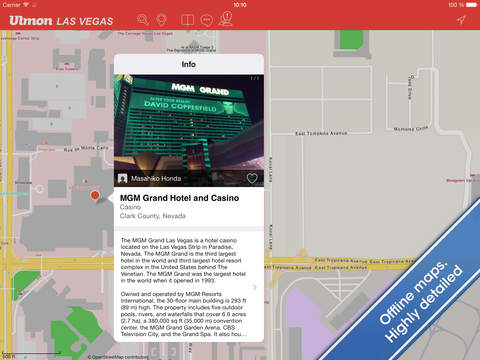 Las Vegas Travel Guide and Offline City Map screenshot