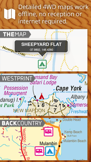 Mud Map 2 4WD GPS with Offline maps Camping Holiday Park POIs of Australia.