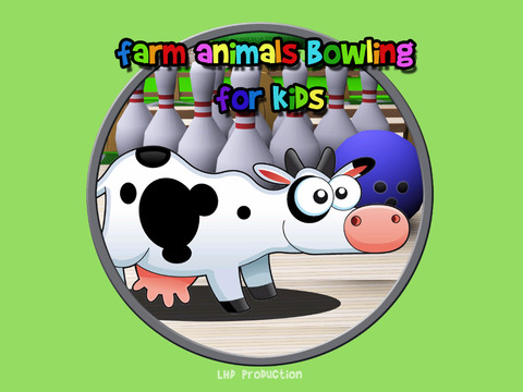 Farm Animals bowling for children iPad Screenshot 1