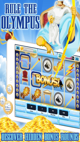 Riches of Greek Gods and Goddesses PRO HD - Mount Olympus Casino Treasure Slot Machine