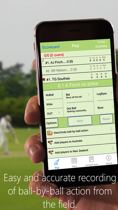 inningZ Cricket Scorer iPhone Screenshot 5