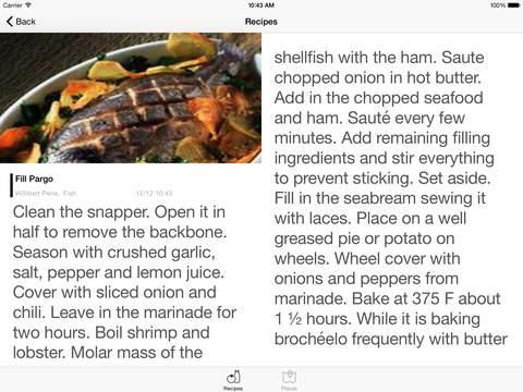 Cuban Recipes - Fish - HD iPad Screenshot 2