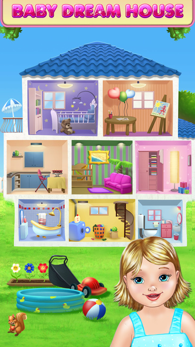 Screenshots of Baby Dream House - Care, Play and Party at Home! for iPhone