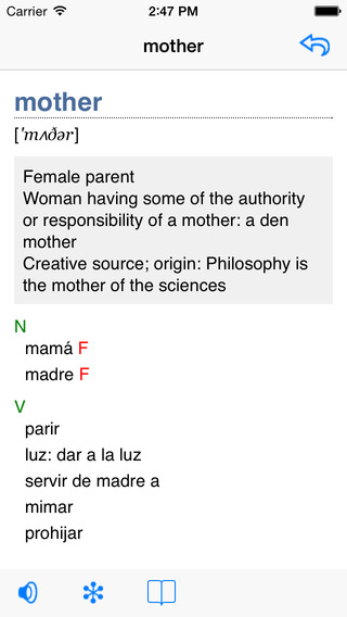 English-Farsi Talking Dictionary iPhone Screenshot 2