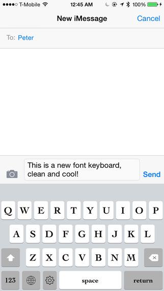 Keyboard of Cochin Font: Artistic Style Keys for iOS 8