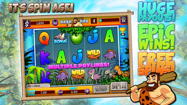 Rock Age - Free Slots Casino Game