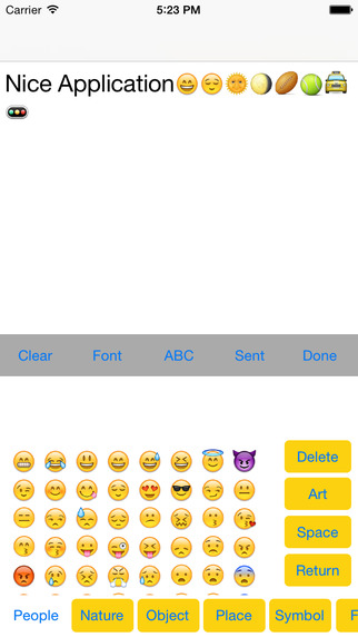 Emoji with Emoticons Pic and New Keyboard