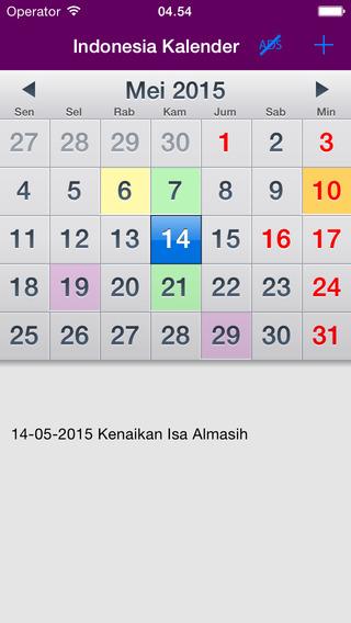 Indonesia 2015 Kalender