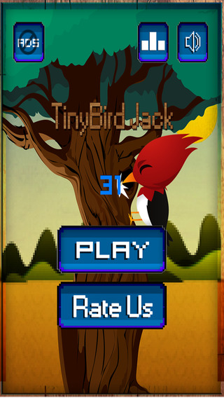 The tiny bird jack in the slenderman's timber adventure forest