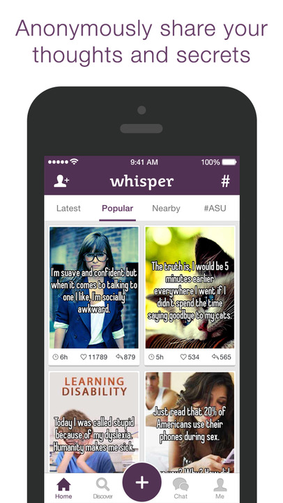 Whisper - Share, Express, Meet - iPhone Mobile Analytics and App Store Data