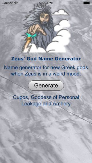 Zeus' Greek God Name Generator