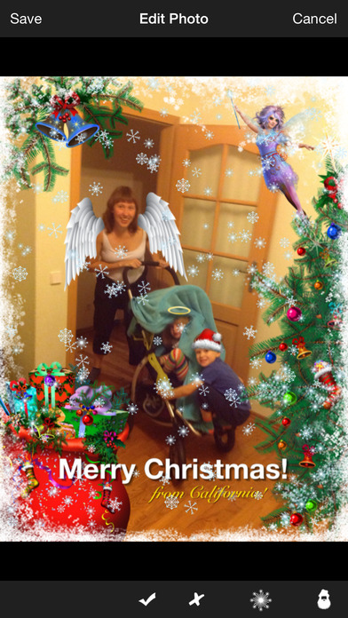 Christmas Photo Booth iPhone Screenshot 2