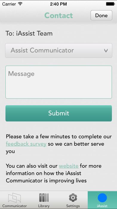 iAssist Communicator iPhone Screenshot 5