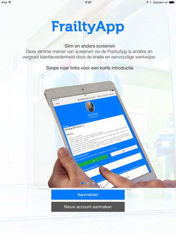 FrailtyApp - Screening van kwetsbare ouderen om problemen en verdere achteruitgang te voorkomen