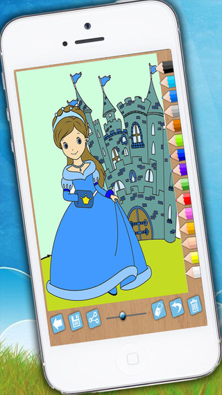 Paint and color princesses - Educational game for