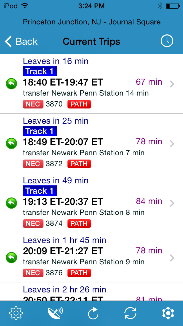 RailBandit - train schedules for transit commuter in the U.S. and Canada screenshot