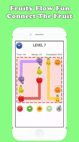 Fruity Flow Fun : Connect The Fruit Free Game For Kids