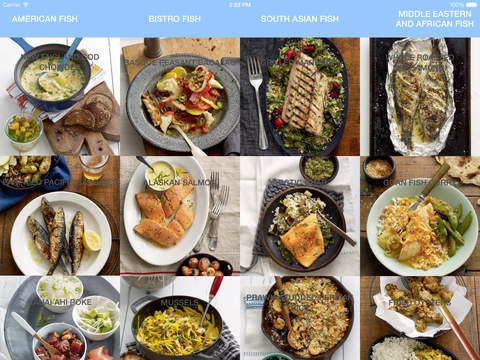 Cookbook - Seafood Feasts for iPad Version
