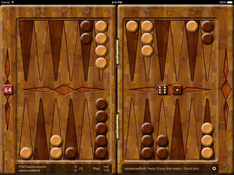 Backgammon Online 2 iPad Screenshot 1