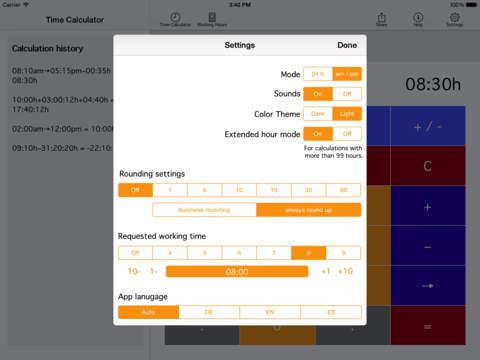 Time.Calc iPad Screenshot 3