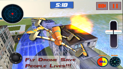 Rescue Drone Flight simulator 3D – Fly for emergency situation secure people from fire