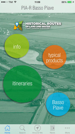 PIA-R Basso Piave: historical routes of land and water