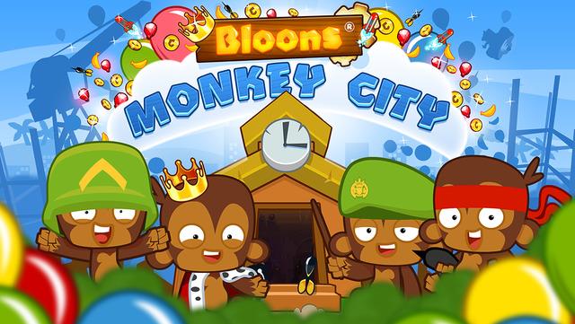 Pop 'bloons' to build a monkey metropolis in Ninja Kiwi's Bloons Monkey City (via @appadvice)