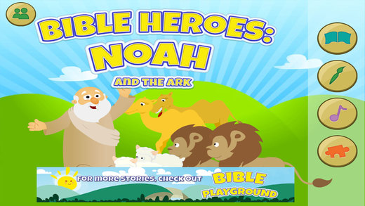 Bible Heroes: Noah and the Ark - Bible Story Puzzles Coloring and Games for Kids