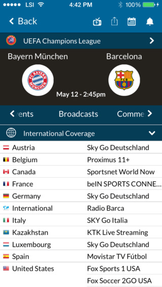 Live Soccer TV - Official Broadcast Schedules Scores