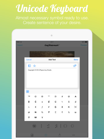 how to add watermark to photos on ipad