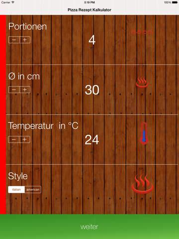 玩生活App|Pizza Rezept Kalkulator免費|APP試玩