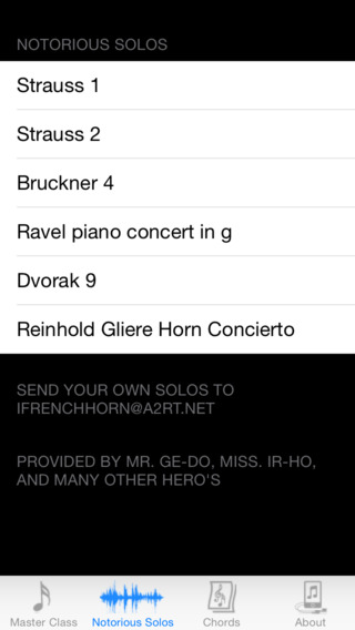 iFrenchHorn Pro iPhone Screenshot 3