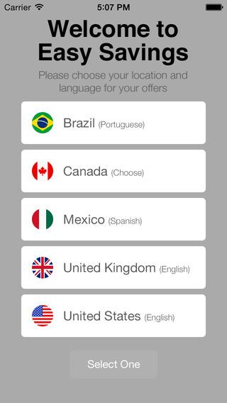 Easy Savings Program iPhone Screenshot 1