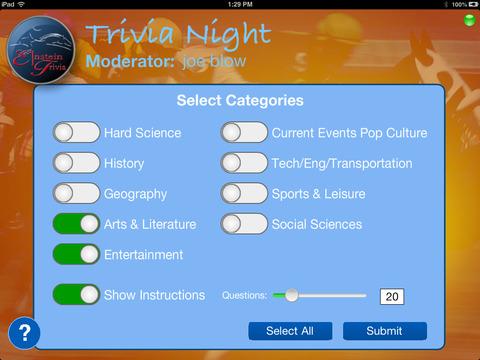 E1nstein Trivia Night Moderator