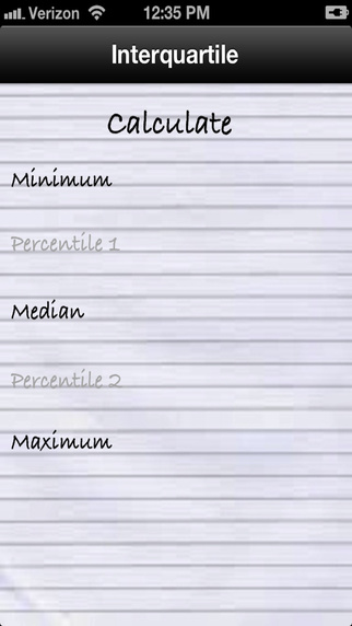 Interquartile Median Minimum and Maximum