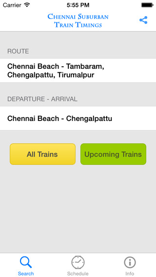 Chennai Suburban Train Timings