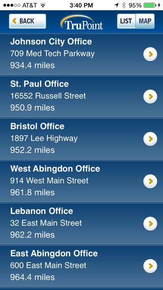 TruPoint Bank iPhone Screenshot 2
