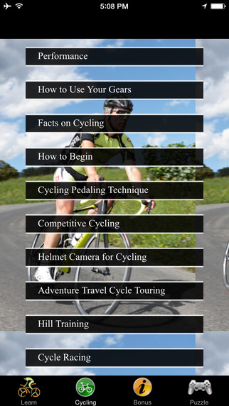 Road Cycling Techniques and Work