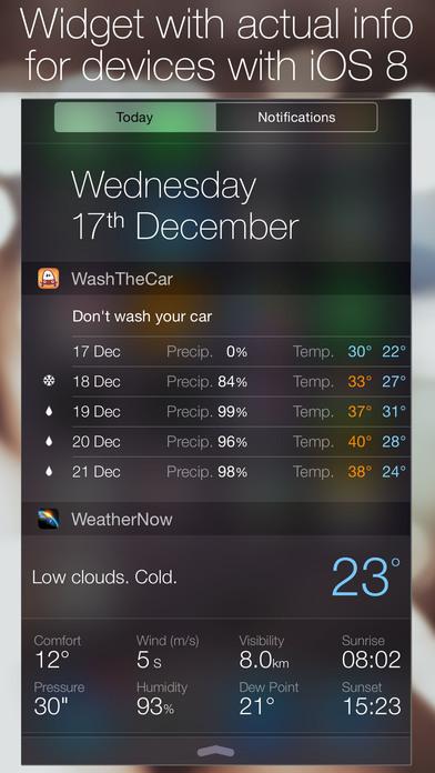 Помой Тачку - Прогноз Погоды Осадки Виджет Карты Screenshot