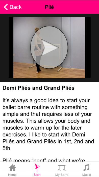 Ballet Barre Exercises iPhone Screenshot 2