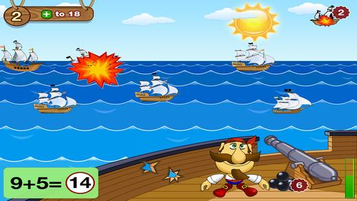 Math Smart Pirates. SeaFight. 1st and 2nd Grade. Lite